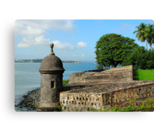 Old San Juan Gun Turret Canvas Print