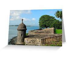 Old San Juan Gun Turret Greeting Card