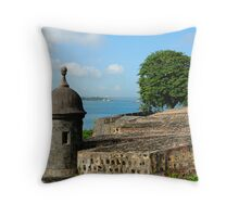 Old San Juan Gun Turret Throw Pillow