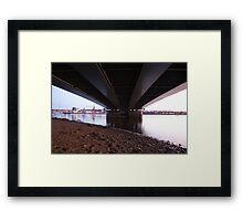 Under the bridge downtown Framed Print