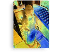 Budda Blue Canvas Print