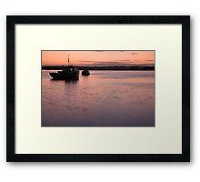 Wexford Harbour at sunset Framed Print