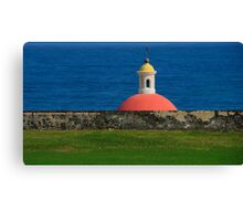 Old San Juan, Puerto Rico Tomb Canvas Print