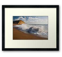 East beach surf Framed Print