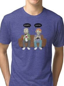 Braaaaainnnnsss Gaaaaaamessssss Tri-blend T-Shirt