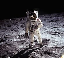 Buzz Aldrin on the Moon by Jeff Vorzimmer