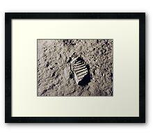 Bootprint on the Moon Framed Print