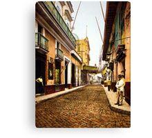 Calle de Habana, Cuba Canvas Print