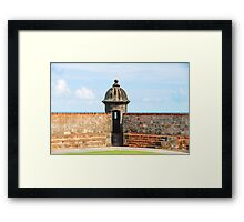 Old San Juan Gun Tower Framed Print