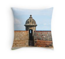 Old San Juan Gun Tower Throw Pillow