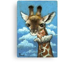 Romantic giraffe Canvas Print