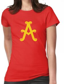 Uppercase A Womens Fitted T-Shirt
