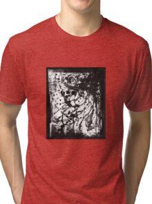 Enamel Ink Pattern Abstract Octopus Tri-blend T-Shirt