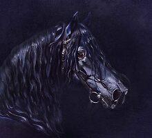 The blue Frisian Stallion by Monika Juengling