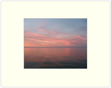 Pink Clouds over Lake Michigan  by Thomas Murphy