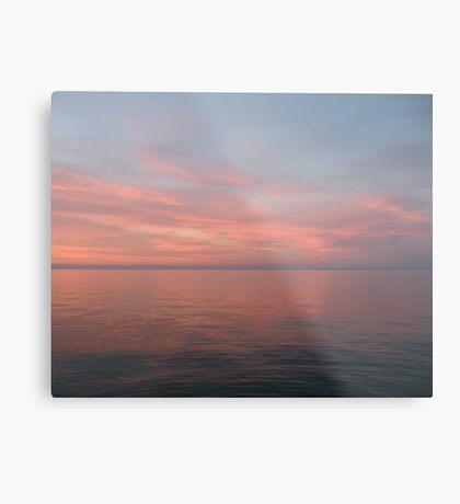 Pink Clouds over Lake Michigan  Metal Print