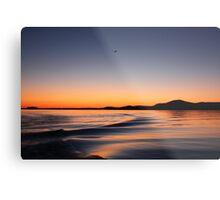 Sunset on Lake Wisconsin Metal Print