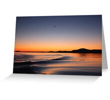 Sunset on Lake Wisconsin Greeting Card