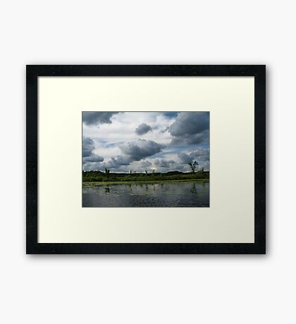 Majestic Clouds over Lake Framed Print