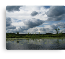 Majestic Clouds over Lake Canvas Print