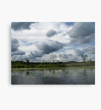 Majestic Clouds over Lake Metal Print
