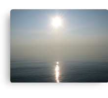 Sun Ray over Lake Michigan Canvas Print