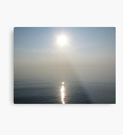 Sun Ray over Lake Michigan Metal Print