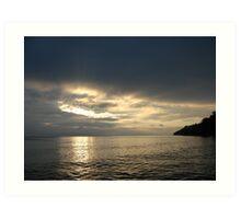 Time Rift Clouds over Lake Michigan 452 Art Print