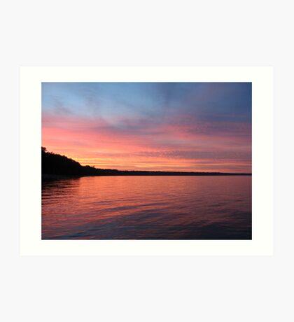 Beautiful Sunset on Lake Michigan  Art Print
