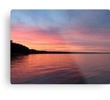 Beautiful Sunset on Lake Michigan  Metal Print