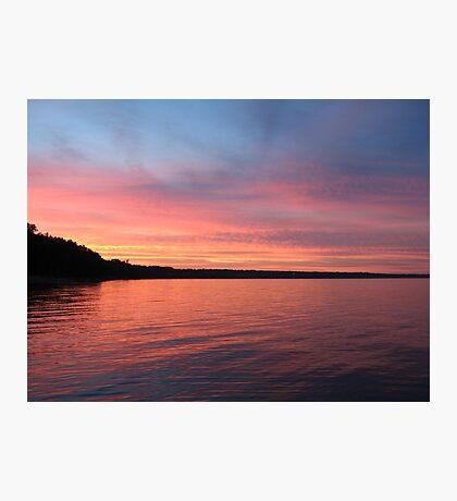 Beautiful Sunset on Lake Michigan  Photographic Print