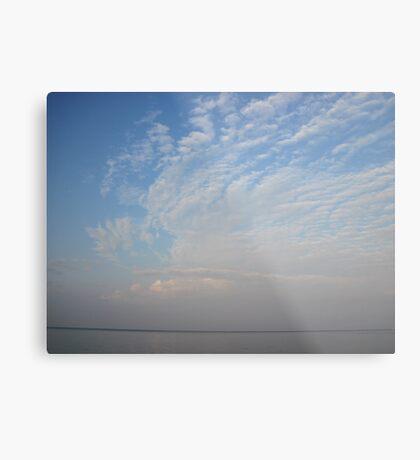Guardian Angel Clouds Metal Print