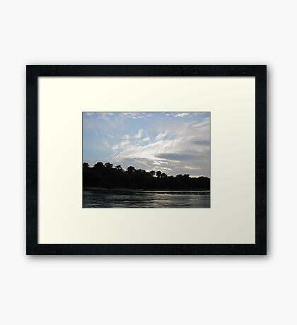Feather Cloud  Framed Print