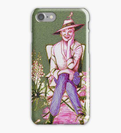 Elegant lady gardener iPhone Case/Skin