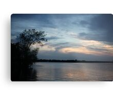 Lac LaBelle Sunset Metal Print