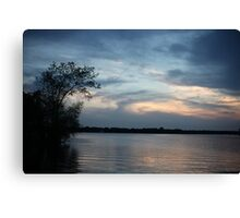 Lac LaBelle Sunset Canvas Print