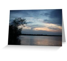 Lac LaBelle Sunset Greeting Card