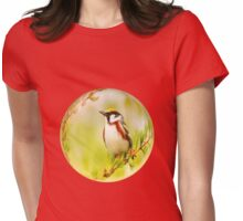 Bird on a branch Womens Fitted T-Shirt