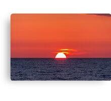 Orange sunset III Canvas Print