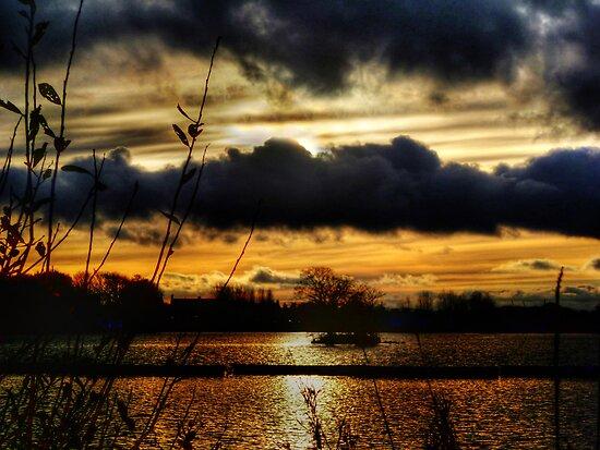 Yeadon Tarn Sunset 2 by Colin Metcalf
