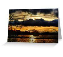 Yeadon Tarn Sunset 2 Greeting Card