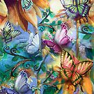 Butterlies In My Garden by Robin Pushe'e
