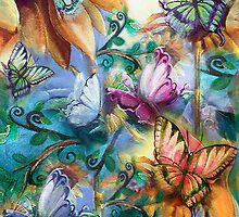 Butterlies In My Garden by Robin Pushe'e