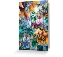 Butterlies In My Garden Greeting Card