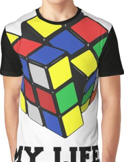 """Rubix Cube (Complex), """"My Life."""" Quote Graphic T-Shirt"""