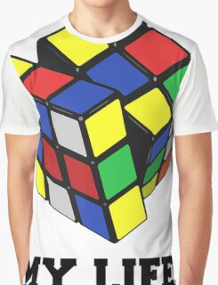 "Rubix Cube (Complex), ""My Life."" Quote Graphic T-Shirt"