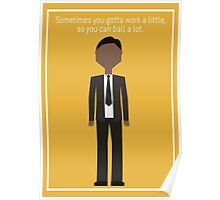 """Tom Haverford: """"Work a Little"""" Poster"""