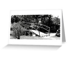 Black and White/ wooden bridge Greeting Card
