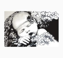 My Daughter, Grace - charcoal portrait, clothing, stickers, iphone case Kids Clothes