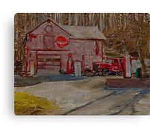 Old Garage Canvas Print